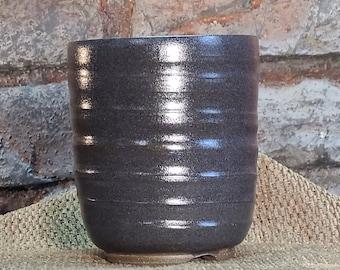 Bonsai Pot - Egg Plant Glazed Crystalline Stoneware