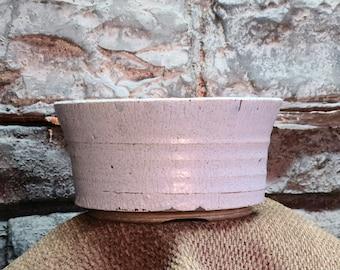 Bonsai Pot - Pale Blue/Gray Textured Glazed Stoneware
