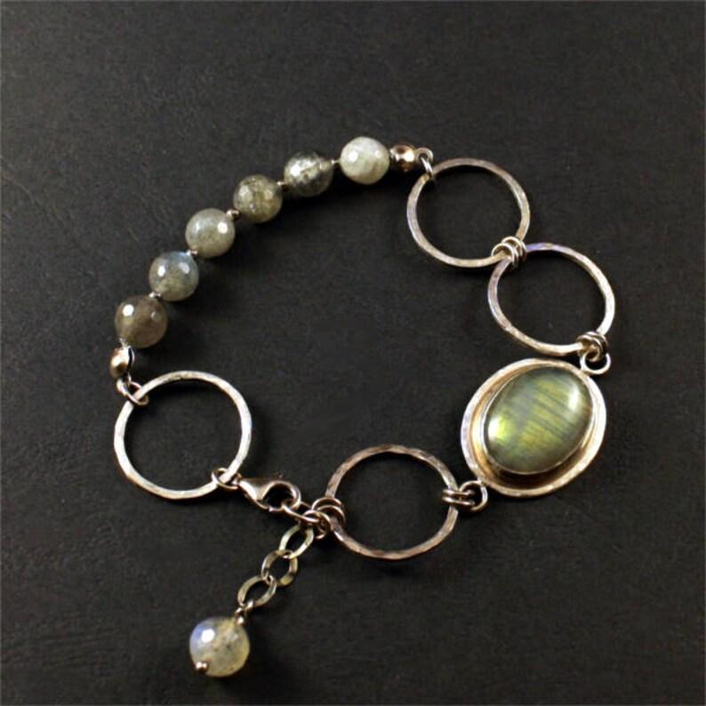 sterling silver bracelets with labradorite aquamarine Labradorite bracelet set gemstones bracelets