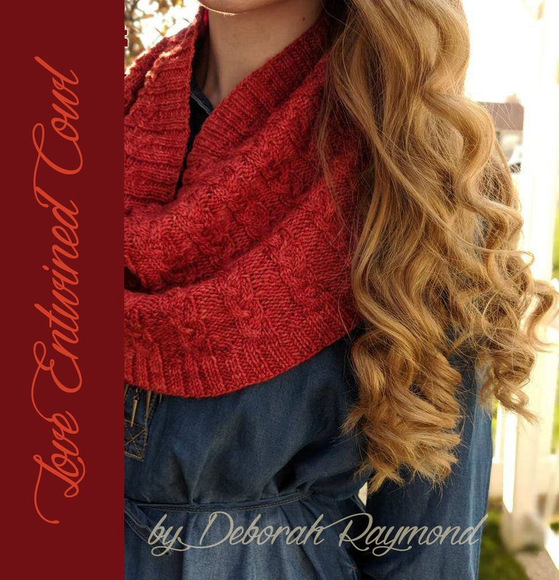 Love Entwined Cowl Knitting Pattern image 0