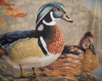 Duck Theme Fleece Throw