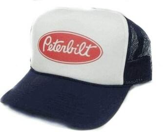 a6271ba2 Peterbilt trucks hat Trucker Hat Mesh Hat Snap Back Hat YOU CHOOSE COLOR hat!  Peterbilt hat
