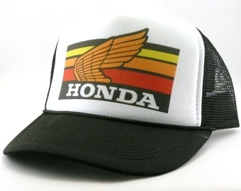 c4797e9c642 Honda motocross Trucker hat mesh hat snapback hat new adjustable pick color  Vintage style hat