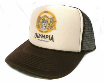 473d10a6a490b Vintage Olympia Beer Trucker Hat Mesh Hat Snap Back Hat new adjustable pick  color