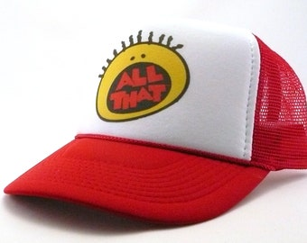 ac00aee6418 All That tv show hat trucker hat mesh hat snapback hat new adjustable pick  color