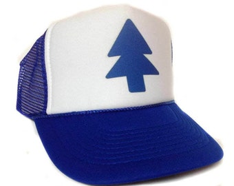 1e36fa42 Dipper Pines from Gravity Falls Trucker Hat Mesh Hat Snap Back Hat royal  one size fits most