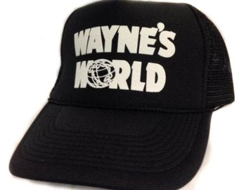 5f01dc787b598 Wayne s World movie hat Trucker Hat Mesh Hat Snap Back Hat black Free  Shipping express 1-2 day shipping available