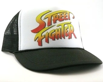 Street Fighter Trucker Hat mesh hat new adjustable vintage video gamer hat 29c213b006ae