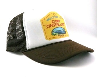 6f265c71a5f039 Camp Crystal lake hat trucker hat mesh hat snapback hat new adjustable  Friday the 13th movie hat