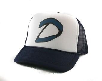2a577973c41 Clementine hat from Walking Dead hat Trucker Hat Mesh Hat Snap Back Hat  original hat navy