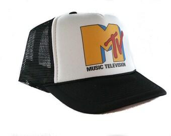1a2b9339f31 Mtv trucker hat mesh hat new adjustable choose color hat vintage music television  hat