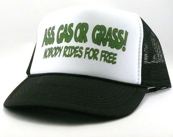 0082d9f670c Ass Gas or Grass Trucker hat mesh hat snapback hat new adjustable pick color