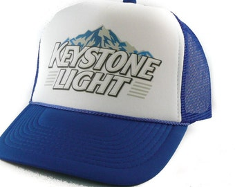 Keystone Light beer hat Trucker Hat Mesh Hat Snap Back Hat royal blue 7927b2eb6b6d