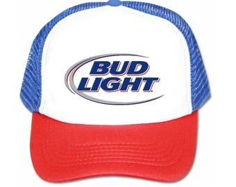 Bud Light beer hat trucker hat mesh hat new adjustable snapback hat 45a0002c7a0a