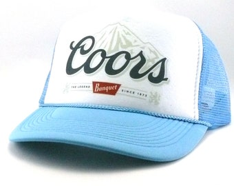60a994d6093 Coors beer hat trucker hat mesh hat snapback hat new adjustable You choose  color vintage style light blue