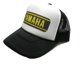 c5f2ead901c Vintage Yamaha motocross hat trucker hat adjustable snapback racing hat  black new unworn motorcycles hat