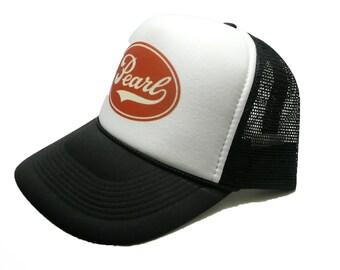 6acda648a7f Vintage Pearl Drums hat trucker hat adjustable snapback music hat black new  unworn