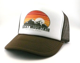 Rocky Mountain National Park Colorado Trucker Hat mesh hat snapback hat new  vintage look 85d3606d00e4