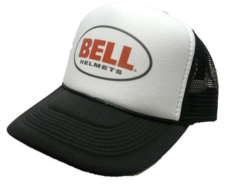 7258c48f3b3 Vintage Bell helmets hat trucker hat adjustable snapback racing hat black  new unworn