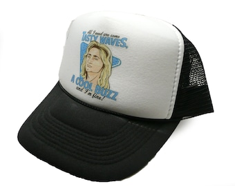 082f82ebef74a Vintage Fast Times at Ridgemont High movie hat trucker hat surfer hat black  new Jeff Spicoli hat