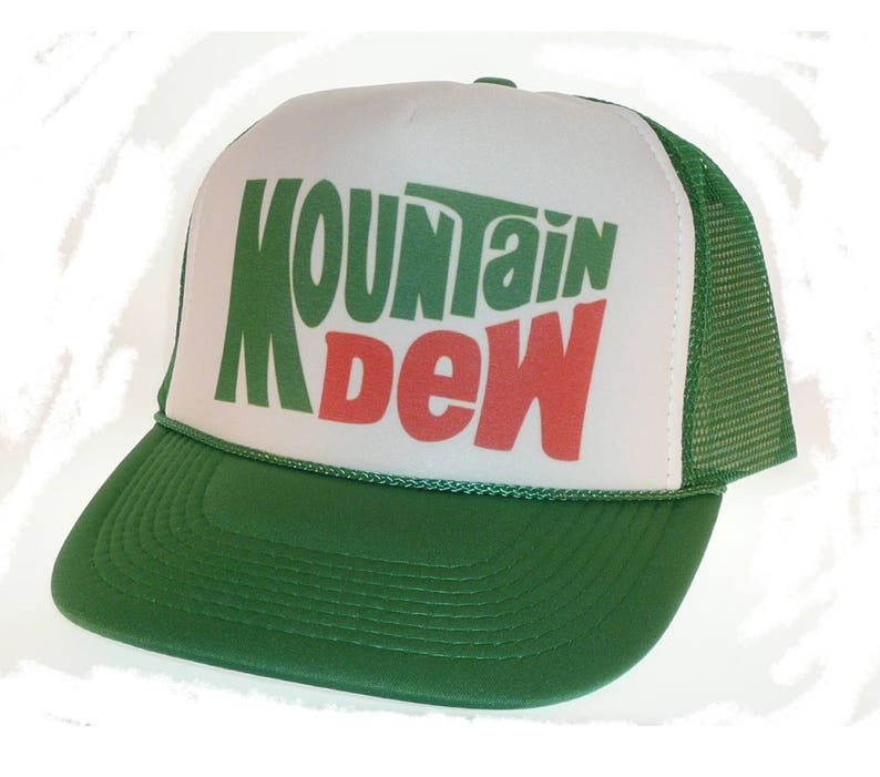 Vintage Mountain Dew soda Hat Trucker Hat snap back adjustable one size  fits mos... Vintage Mountain Dew soda Hat Trucker Hat snap back adjustable one  size ... ea680edcc40e