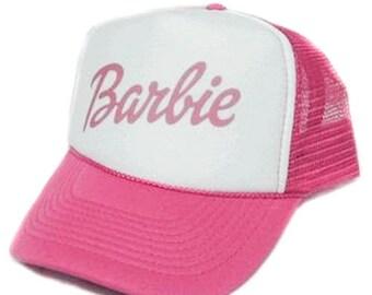 Barbie hat Trucker Hat Mesh Hat  Snap Back Hat YOU CHOOSE COLOR hat low cost
