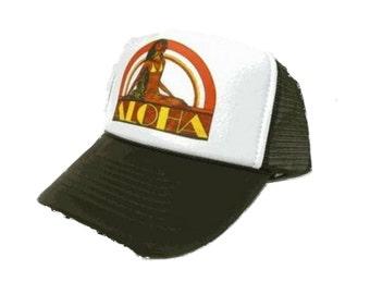 Aloha Trucker Hat Mesh Hat Snap Back Hat YOU CHOOSE COLOR hat!