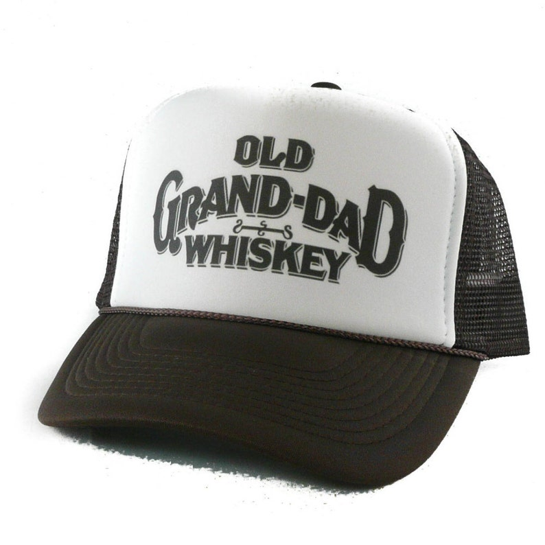 a19480f917d33 Old Grand-Dad Whiskey hat Trucker Hat Mesh Hat Snap Back Hat