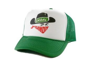 Skoal Bandit chewing tobacco hat Trucker Hat Mesh Hat  Snap Back Hat green