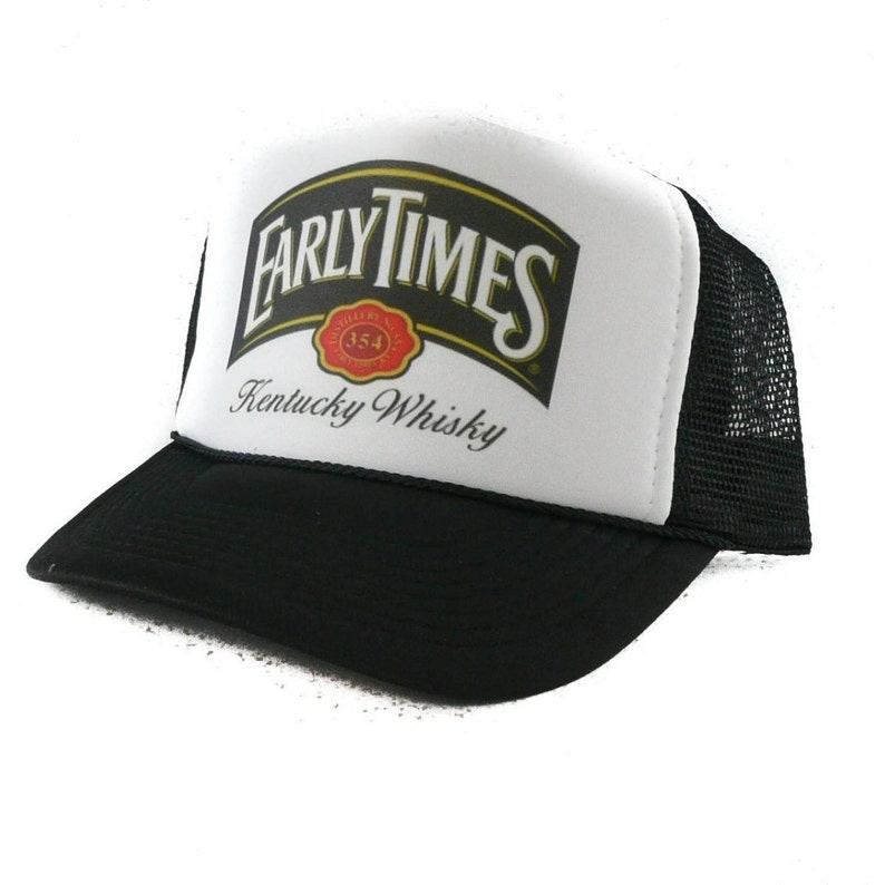 f21e1e604bb47 Early Times Kentucky Whisky hat Trucker Hat Mesh Hat Snap