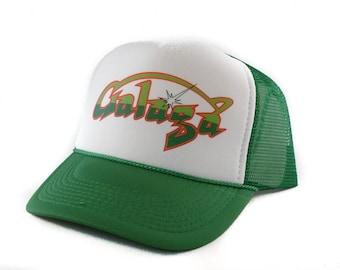 Galaga hat Trucker Hat Mesh Hat  Snap Back Hat green