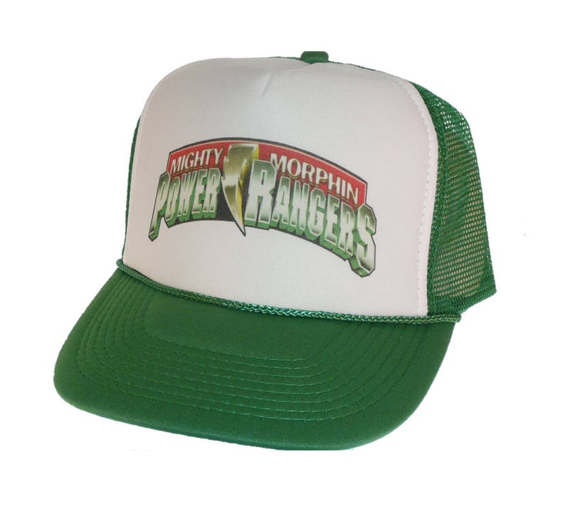 b98675532824b Vintage Mighty Morphin Power Rangers Hat Trucker Hat snap back
