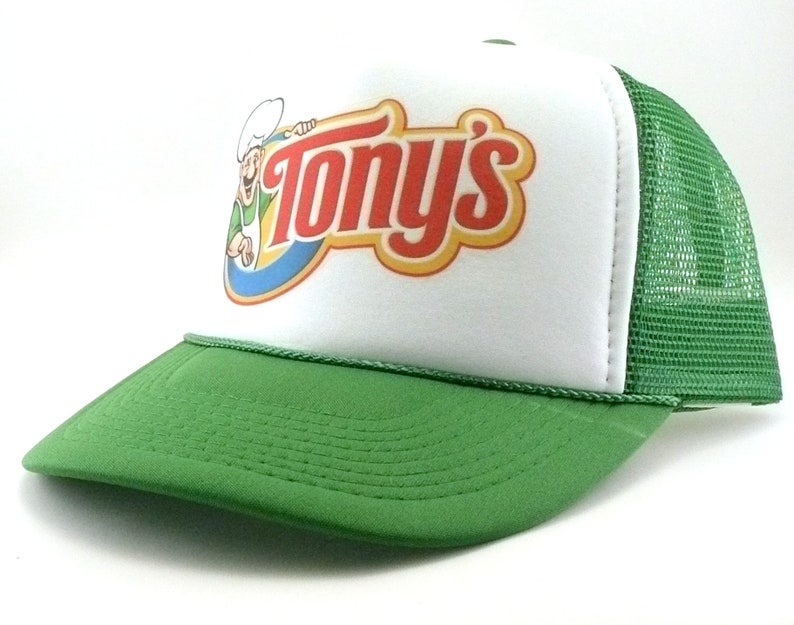 89c1ac275 Tony's pizza Trucker Hat Mesh Hat Snap Back Hat new unworn