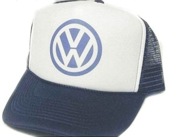 VW Trucker Hat Mesh Hat  Snap Back Hat CHOOSE COLOR hat! adjustable one size fits most new Volkswagon