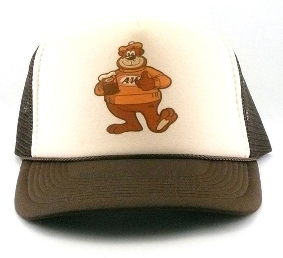 A W Root beer bear Trucker hat mesh hat snapback hat new  c6f842ec9252
