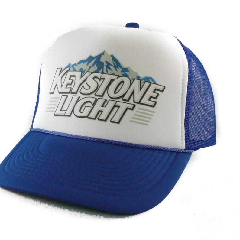 99a1fc755a2 Keystone Light beer hat Trucker Hat Mesh Hat Snap Back Hat
