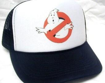 Ghostbusters hat Trucker Hat Mesh Hat  Snap Back Hat Black