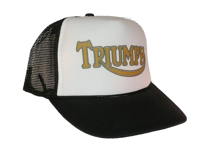 da59c266a9d Vintage Triumph motorcycles hat Trucker Hat snap back