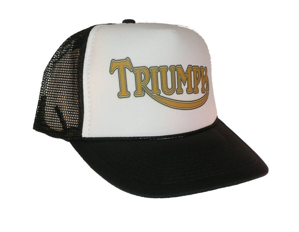 Vintage Triumph motorcycles hat Trucker Hat snap back  6d99a22e016