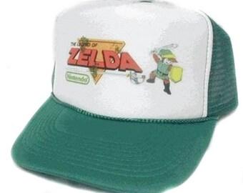 Legend of Zelda Trucker Hat Mesh Hat  Snap Back Hat CHOOSE COLOR hat! adjustable one size fits most new
