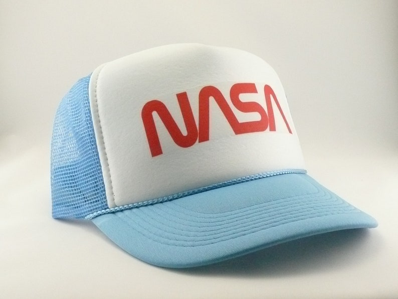 NASA Trucker Hat Mesh Hat Snapback Hat new adjustable script  2ec585ce9519