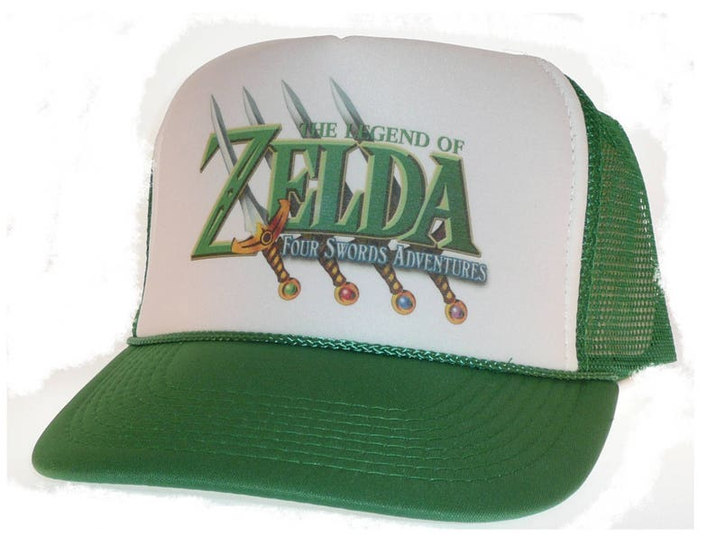 85d6edef00b26 Vintage Nintendo Legend of Zelda four swords Hat Trucker Hat