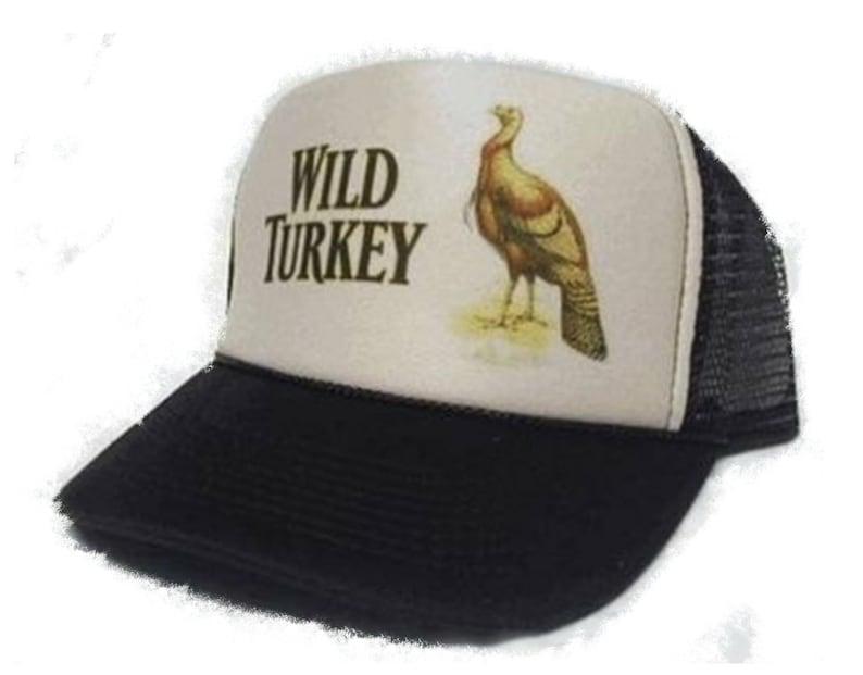 e29ea2ba6b833 Wild Turkey Whiskey Trucker Hat Mesh Hat tan brown new
