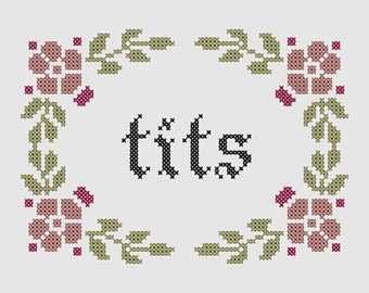 Cross stitch pattern 'Tits'