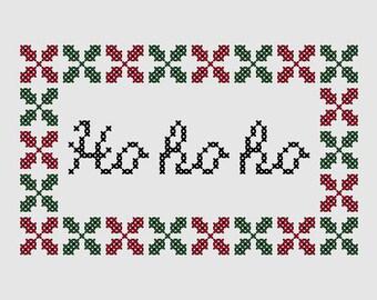 Cross stitch pattern 'Ho ho ho'