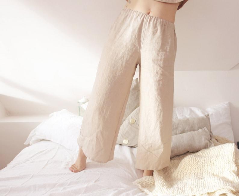 Linen summer crop top Womens linen top Womens linen clothing Womens plus size clothing Wabi sabi linen clothing
