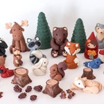 Fondant woodland cake toppers - Ready to ship! Get them in 2-4 business days!