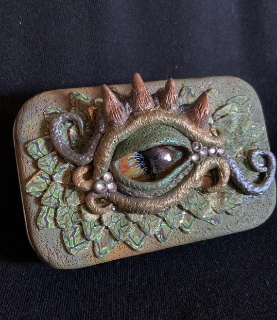 Polymer Clay Dragon Eye Tin Box