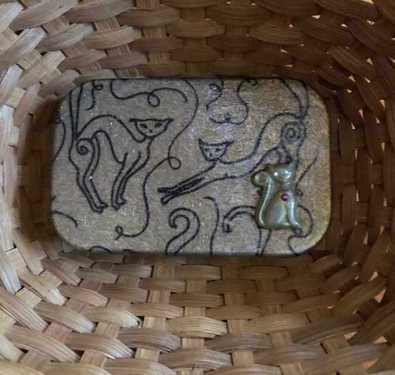 Polymer Clay decorated tin box