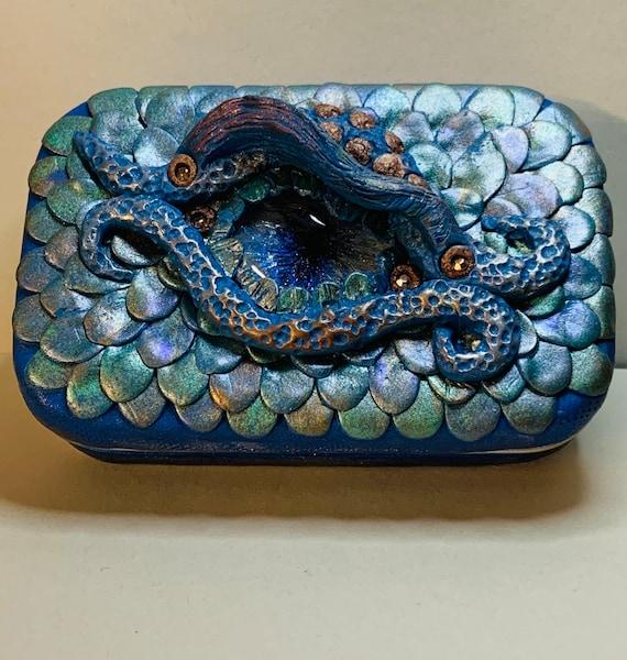 Polymer Clay 'Dragon Eye' Tin Box